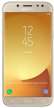 "Смартфон Samsung Galaxy J5 2017 золотистый 5.2"" 16 Гб LTE NFC Wi-Fi GPS 3G SM-J530FZDNSER"