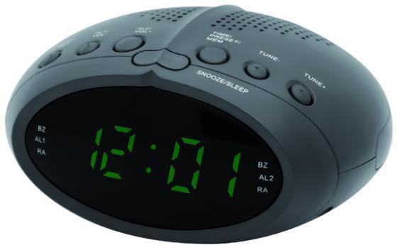 Часы с радиоприёмником Supra SA-25FM чёрный зелёный радиобудильник supra sa 44fm