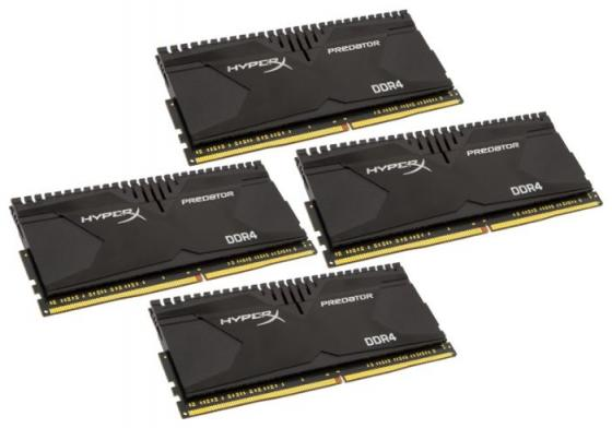 Оперативная память 32Gb (4x8Gb) PC4-21300 2666MHz DDR4 DIMM CL13 Kingston HX426C13PB3K4/32 kingston kvr21n15d8 16 ddr4 16гб pc4 21300 2133 dimm