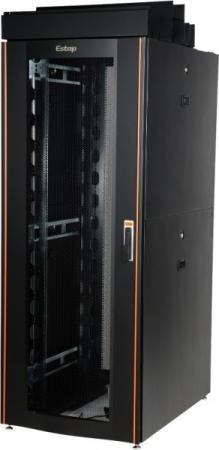 """лучшая цена Шкаф напольный 19"""" 47U Estap CloudMax CLD70647U8012BF1R1 800x1200mm передняя дверь одностворчатая перфорированная задняя дверь двустворчатая перфорированная черный"""