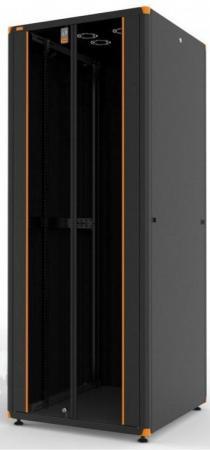Шкаф напольный 19 42U Estap Evoline EVL70142U8080BF1R2 800x800mm передняя дверь двустворчатое стекло с металлической рамой слева и справа задняя дверь двустворчатая металлическая черный