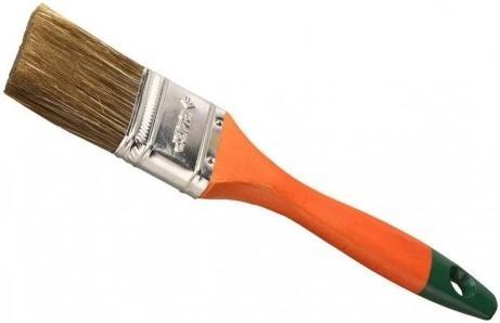 Кисть плоская Зубр ЛАЗУРЬ-МАСТЕР смешанная щетина деревянная ручка 25мм 4-01009-025 кисть плоская стандарт смешанная щетина пластиковая ручка 100 мм