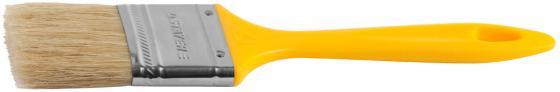 Кисть плоская Stayer UNIVERSAL-MASTER натуральная щетина пластмассовая ручка 25мм 0107-25_z01 кисть радиаторная stayer universal master натуральная щетина пластмассовая ручка 50мм 0110 50 z01
