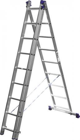 Лестница Сибин универсальная трехсекционная со стабилизатором 9 ступеней 38833-09 цены онлайн
