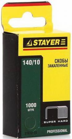 Скобы Stayer Profi закаленные тип 140 10мм 1000шт зеленый 31610-10 лента stayer profi клейкая противоскользящая 50мм х 5м 12270 50 05