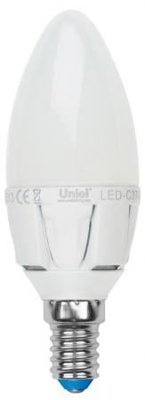 Лампа светодиодная диммируемая (UL-00000690) E14 6W 3000K свеча матовая LED-C37-6W/WW/E14/FR/DIM лампа светодиодная ul 00000933 e14 6w 3000k рефлектор матовый led r50 6w ww e14 fr dim plp01wh