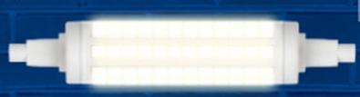 Лампа светодиодная (UL-00001555) R7s 12W 3000K трубчатая прозрачная LED-J118-12W/WW/R7s/CL PLZ06WH