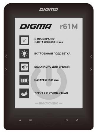 Электронная книга Digma R61M 6 E-Ink 4Gb черный планшет digma plane 1601 3g ps1060mg black