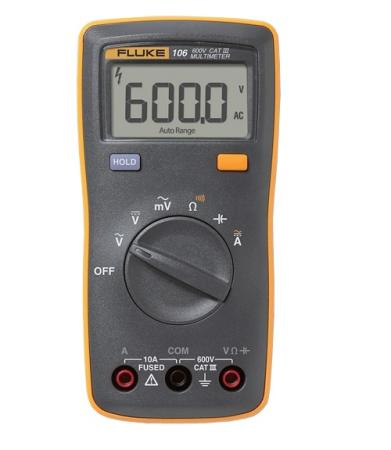 Мультиметр Fluke FLUKE-106 ERTA 4367927 fluke f101 digital multimeter cat iii 600v voltmeter ammeter meter