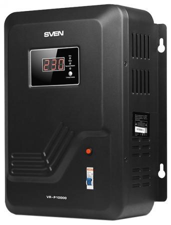 Стабилизатор напряжения Sven VR-P10000 черный стабилизатор sven vr p5000 sv 014957