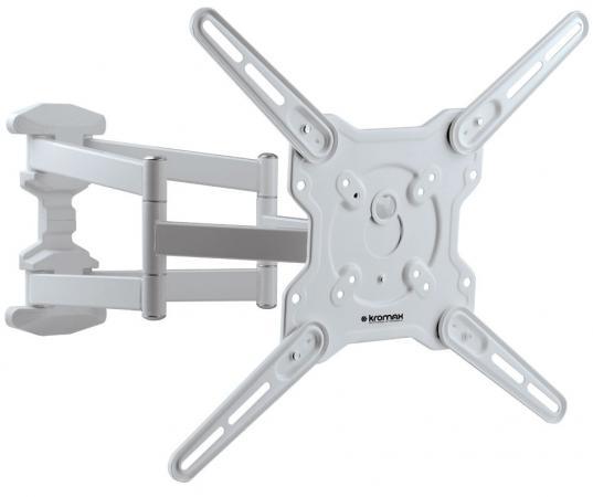 Кронштейн Kromax Optima-407W белый 22-65 настенный от стены 55-470мм наклон +5°/-15° VESA 400х400мм до 45кг кронштейн для тв kromax star 22