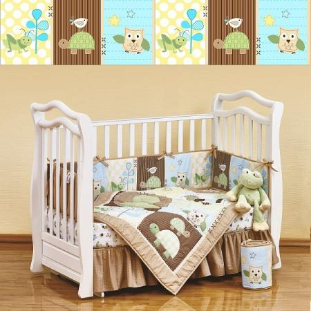 Постельный сет 7 предметов 120х60см Giovanni Shapito (froggy friends) постельный сет 7 предметов 120х60см giovanni shapito bonny bunny