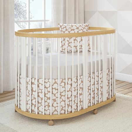 Кроватка овальная 120х90см Giovanni Shapito TreeO (natural white)
