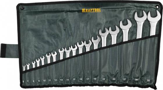 Набор ключей гаечных Kraftool Expert 18шт 27079-H18 stanley expert 6 32mm 1 95 770 набор гаечных ключей silver