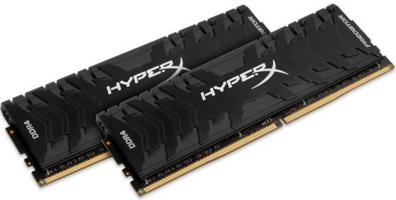Оперативная память 16Gb (2x8Gb) PC4-21300 2666MHz DDR4 DIMM CL13 Kingston HX426C13PB3K2/16 модуль памяти dimm 16gb 2х8gb ddr4 pc21300 2666mhz kingston hyperx predator black cl13 hx426c13pb3k2 16
