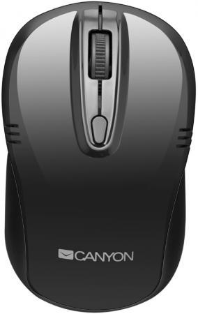 Мышь беспроводная Canyon CNE-CMSW02B чёрный USB мышь беспроводная canyon cne cmsw03dg серебристый чёрный usb bluetooth