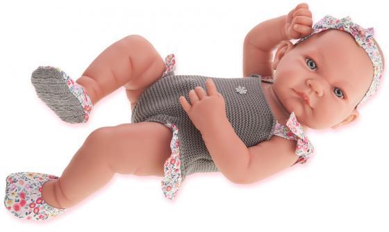 Кукла-младенец Munecas Antonio Juan Ника 42 см в сером 5008G munecas antonio juan пупс мио в розовом костюме