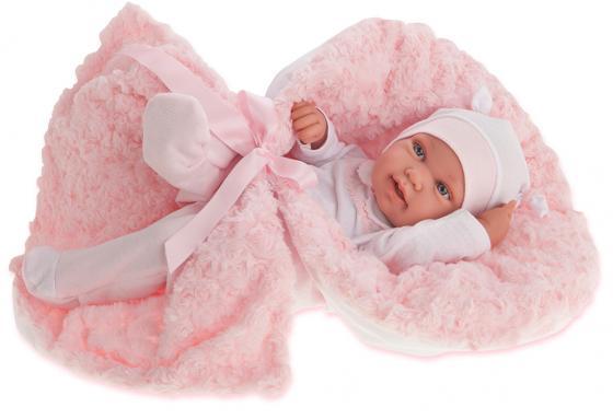 Кукла-младенец Munecas Antonio Juan Эдуарда 42 см в розовом 5006P
