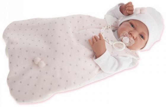Кукла-младенец Munecas Antonio Juan Кармела в розовом 42 см кукла марита в голубом плач 42 см antonio juan munecas