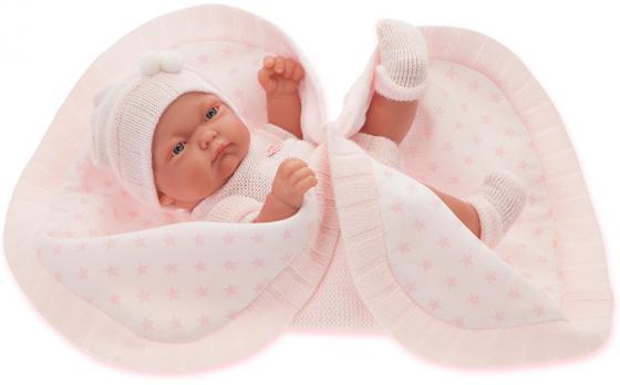 Кукла-младенец Munecas Antonio Juan Карла 26 см в розовом 4069P