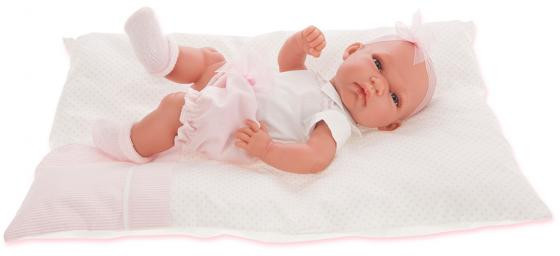 Кукла-младенец Munecas Antonio Juan Хосе Марсела 33 см в розовом 6018P munecas antonio juan кукла лучия в розовом 37 см munecas antonio juan