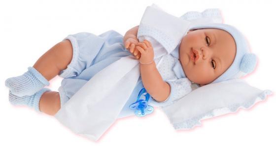 Кукла Munecas Antonio Juan Габи в голубом 37 см плачущая 1444B