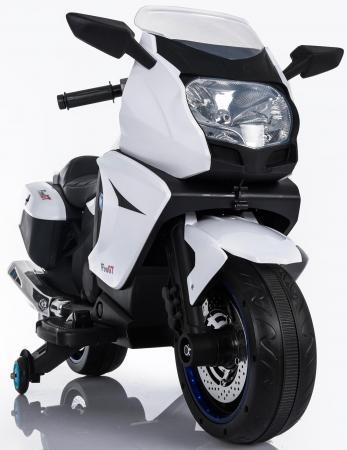 Мотоцикл Kids cars (одноместный электромобиль аккумуляторно-зарядный) KT316 Белый cars galore