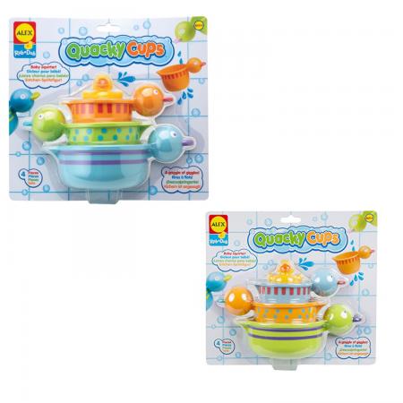 Пластмассовая игрушка для ванны ALEX Чашки-уточки игрушки для ванны игруша набор для ванны уточки