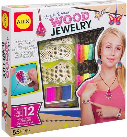 Набор для создания украшений и аксессуаров Alex Деревянные украшения 55 шт 611110-3 alex набор браслеты бро