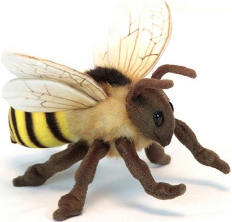 Мягкая игрушка пчела Hansa Пчелка 22 см коричневый желтый искусственный мех текстиль пластик 6565 мягкая игрушка пчела hansa пчелка 22 см 6565