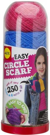 Набор для вязания Alex Круговой шарф 115C набор для вязания спицами alex модные вещи из пушистой пряжи