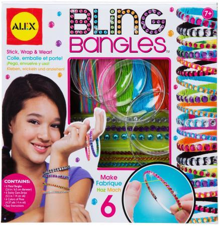 Набор для создания браслетов Alex Сияющие стразы 1732 наборы для создания украшений alex большой набор для плетения браслетов друзья
