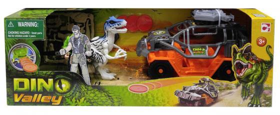 Игровой набор CHAP MEI Тираннозавр и охотник на джипе 520152-2 (стреляет) игровые наборы chap mei игровой набор динозавр трицератопс и охотник на вертолете стрельба