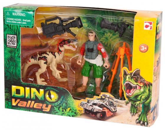 Игровой набор CHAP MEI Динозавр Эораптор и кинооператор 520007-2 игровые наборы chap mei игровой набор динозавр трицератопс и охотник на вертолете стрельба