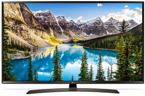 Телевизор 60 LG 60UJ634V черный 3840x2160 50 Гц Wi-Fi Smart TV RJ-45 Bluetooth WiDi телевизор led 65 lg oled65e6v серый 3840x2160 120 гц wi fi smart tv rj 45 bluetooth widi