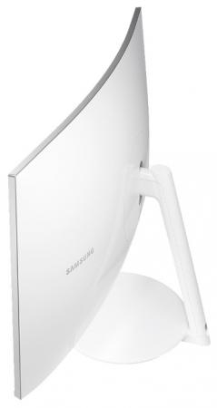 "Монитор 27"" Samsung LC27H711QEIXCI белый VA 2560x1440 300 cd/m^2 4 ms HDMI Mini DisplayPort"
