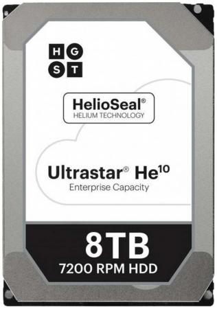 "лучшая цена Жесткий диск 3.5"" 8Tb 7200rpm HGST Ultrastar HE10 SATAIII HUH721008ALE604 0F27457"