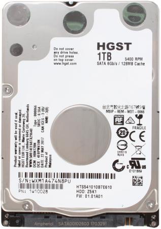 """все цены на Жесткий диск для ноутбука 2.5"""" 1Tb 5400rpm HGST Travelstar Z5K1 SATAIII HTS541010B7E610 1W10028 онлайн"""