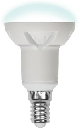 Лампа светодиодная рефлекторная Uniel UL-00000934 E14 6W 4500K LED-R50-6W/NW/E14/FR/DIM PLP01WH uniel лампа светодиодная 08137 e14 6w 3000k свеча на ветру матовая led cw37 6w ww e14 fr alm01wh