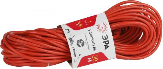Удлинитель Эра UP-1-2x1.0-30m 1 розетка 30 м оранжевый удлинитель эра б0033017 30 м 1 розетка