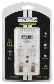 Зарядное устройство ТРОФИ TR-600 AA/AAA 1 шт устройство зарядное трофи tr 120