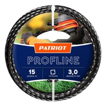 Леска Patriot Profline d3мм L15м 805402201 леска для триммера квадратная patriot profline d 2 4 мм
