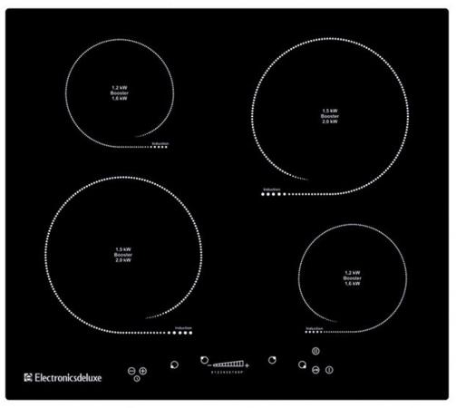 Варочная панель электрическая Electronicsdeluxe 605304.01 эви черный варочная панель electronicsdeluxe 595204 01 эви индукционная независимая черный