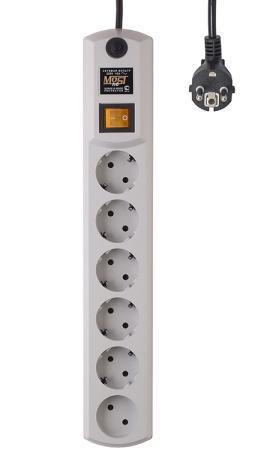Сетевой фильтр MOST HPW 2М БЕЛ 6 розеток 2 м белый сетевой фильтр most hpw 6 sockets 5m black