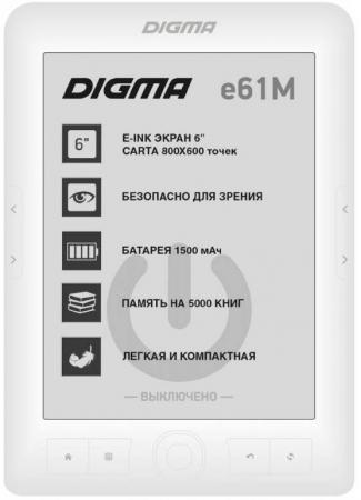 Электронная книга Digma E61M 6 E-Ink 4Gb белый visual c 开发实例大全·基础卷 软件工程师开发大系(附光盘)