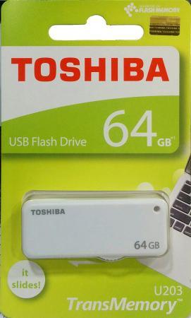 Флешка USB 64Gb Toshiba U-Drive U203 THN-U203W0640E4 белый