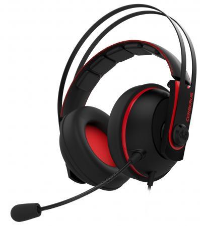Игровая гарнитура проводная ASUS Cerberus V2 красный черный CERBERUS V2/RED/UBW/AS цены онлайн