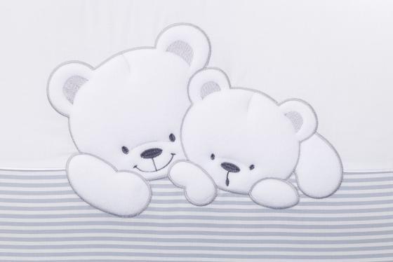 Сменный комплект постельного белья 3 предмета 125х65см Lepre Sweet Bears (цвет 21 серый-полоска) sweet years sy 6128l 21