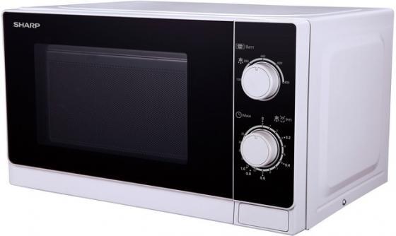 Микроволновая печь Sharp R-2000RW 800 Вт белый чёрный микроволновая печь sharp r 2000rw 800 вт белый черный