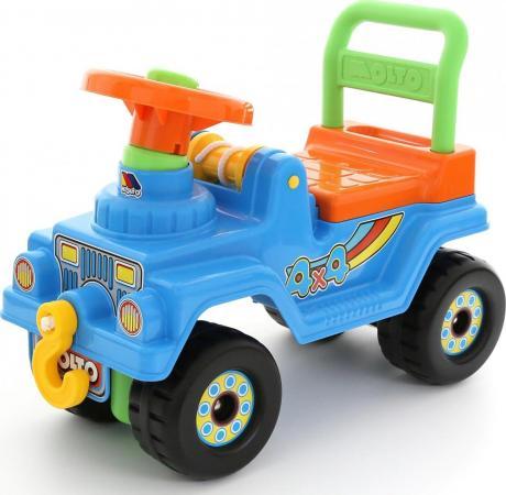 Каталка-машинка Полесье Джип 4х4 №2 пластик от 1.5 лет на колесах голубой цена